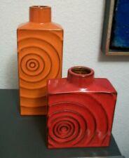Steuler ZYKLON -  Cari Zalloni  - 2 Vasen orange und rot - 15 und 25 cm hoch
