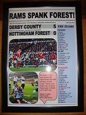 Derby County 5 Nottingham Forest 0 - 2014 - framed print