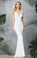 DRESS THE POPULATION 'HARPER' MERMAID WHITE  GOWN DRESS sz M