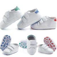 Newborn Baby Boy Girl Leather Soft Sole Crib Shoes Sneakers Prewalker AU