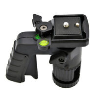 Pistol Grip Ballhead Tripod Head with Quick Release Plate - Supports 15.4 lb