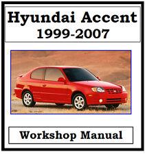 hyundai car and truck clothing merchandise and media ebay rh ebay com au Hyundai Accent 2000 SOHC Engines hyundai accent 2000 workshop manual