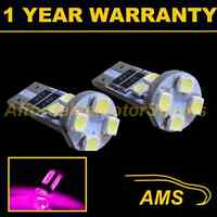 2X W5W T10 501 CANBUS ERROR FREE PINK 8 LED SIDELIGHT SIDE LIGHT BULBS SL101601