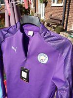 Puma Manchester City 2019/20 Boys Quarter Zip Training Top Jacket Purple - 152
