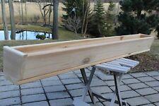 """60"""" CEDAR WOOD SLANT FRONT WINDOW FLOWER BOX  PLANTER GARDEN DECK GARAGE HERB"""
