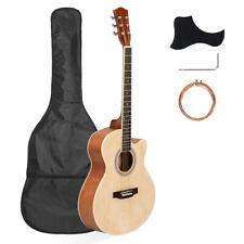 40 Inch Cutaway Acoustic Guitar 20 Frets Beginner Kit Bag Guard Wrench Strings