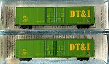 N Scale Micro-Trains DT&I 60' Excess Height Box Cars, 2 Car Set, NIB