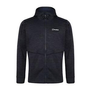 Berghaus Kamloops Mens Full Zip Hooded Fleece Jacket Coat Dark Blue