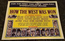 HOW THE WEST WAS WON 8 int'l lobby cards R69 John Ford epic