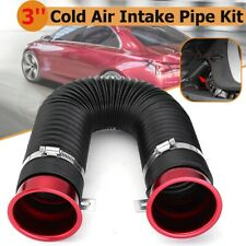 Red 3'' Car Cold Air Intake Feed Flexible Duct Pipe Inlet Hose Tube  l