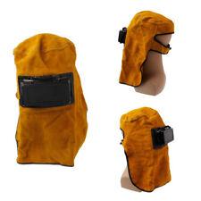 Cow Leather Welding Mask Helmet Eyes Welder Lens Hood Glasses W/ Lift Front
