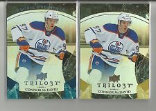 2015-16 Upper Deck Trilogy Connor McDavid Rookie RC 2 Card Lot #ed 399 & 999