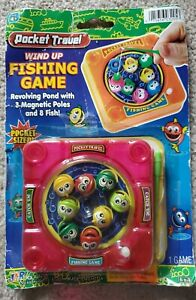 Pocket Travel Wind Up Magnetic Fishing Game (Pink) NEW & On SALE!