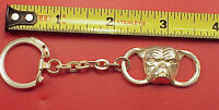 Vintage  1950s College Bulldog 3 3/4 in Pocket Watch Fob  Key Chain Ring