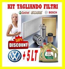 KIT TAGLIANDO 4 FILTRI BOSCH VW GOLF VI 2.0 TDI 81KW + 5LT CASTROL EDGE 5W30