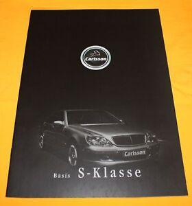 Carlsson Mercedes-Benz S-Klasse 2001 Prospekt Brochure Depliant