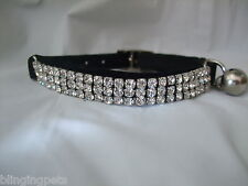 Pupteck Ba3007 Soft Velvet Safe Cat Adjustable Collar Bling Diamante With
