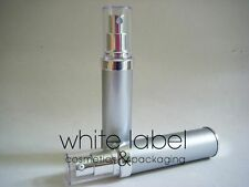 30ML COSMETIC AIRLESS LOTION PUMP BOTTLE SILVER/BLUE COLOR-NEW 60PCS