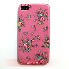 Purple Red Rose Floral Pattern Design Hard Case Cover for iPhone 4 4G 4th 4S