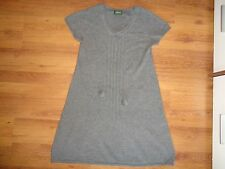 PEAK PERFORMANCE 100% CASHMERE KNITTED GREY  CAP SLEEVE A-LINE TUNIC-M,12-UK