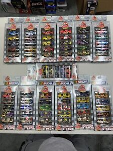 Lot Of 13 Racing Champions 1/64 NASCAR 1999 Fan Appreciation 5 Packs 65 Cars NIP