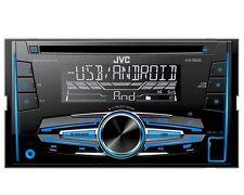 JVC Radio 2 DIN USB AUX per Fiat Fiorino + QUBO 225/225l dal 2008 Nero