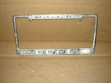 RARE Sacramento California Good Chevrolet Vintage Dealer License Plate Frame