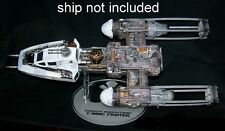 Laser cut acrylic display stand for Y-wing fighter Hasbro Star Wars