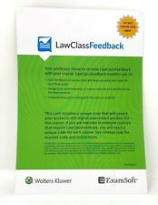 LawClassFeedback code from Wolters Kluwer with ExamSoft