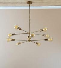 Modern Brass 10 Arms Sputnik Chandelier - Industrial Hanging Light Lighting