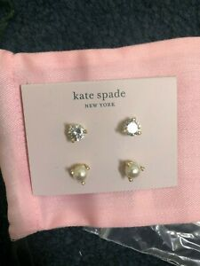 NEW Kate Spade New York Rise and Shine Stud Earrings Set Of 2 New