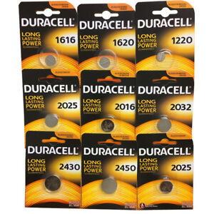 DURACELL Lithium COIN CELL Batteries CR DL 1616 1620 2016 2025 2032 2430 2450