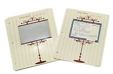 Vintage 4 x 6 Recipe Card Protector Pages/for 3-Rings/New/Meadowsweet Kitchens