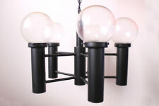 MID CENTURY MODERN VINTAGE CHANDELIER GLASS GLOBES 1970S EAMES