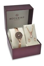 Accurist Womens Rose Gold Watch Gift Set 8121G RRP £150