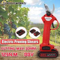 88V 125NM Akku Astschere Gartenschere Baumschere Rebschere Obstschere + Batterie