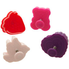 Ateco Valentine Plunger Cutters,Set of 4 Cutters- 1990