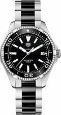 Tag Heuer Aquaracer Black Dial Diamond Ladies Sport Watch WAY131G.BA0913