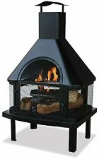Uniflame Firehouse with Chimney, Black WAF1013C New