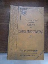 précis de chimie industrielle par Pierre Carré - 1905