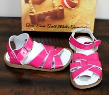 New Salt Water Pink Patent Sandals sz 7 Toddler Girls Classic Fuchsia Hoy Shoes