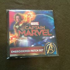 Captain Marvel Embroidered Patch Set NEW MINT Target Exclusive