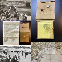 Rare WWII 1944 D-Day Operation Dragoon France Beach Landing Map 3rd Inf. Relic
