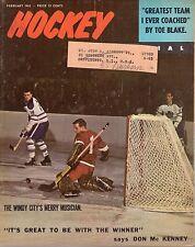 1965 (Feb.) Hockey Pictorial Magazine, Glenn Hall, Chicago Blackhawks ~ Fair