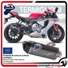 Termignoni FORCE Tubo de Escape en carbono aprobado para Yamaha YZF R1 2015>