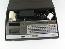 Sharp PC 1500A Komplettpaket mit Plotter, Netzteil und Original Case gepflegt
