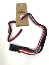 PrAna Chalkbag Belt Cotton Webbing Quick Release Logo Buckle New Free Shipping