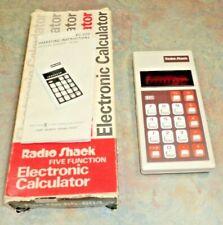 Radio Shack EC-220 Electronic Calculator MODEL 65-604 Tested + BOX MANUAL VTG 11