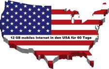 Estados unidos datos sim 12 gb de internet móvil para 60 días en at&t & T-Mobile red