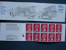 Fe1A Aircraft Vickers Gun Bus 80 Pence Left Margin Stamp Booklet Triangle Base